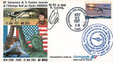 "FFC USA à bord ""CONCORDE - Vol AF4663 New York - Le Bourget"" 1987 signée CHEMEL"