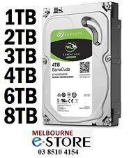 Seagate Barracuda Desktop Internal SATA3 Hard Drive 1TB 2TB 3TB 4TB 6TB 8TB HDD