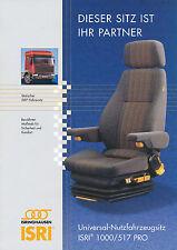 Isri 1000/517 Pro Prospekt Sitz f. Nutzfahrzeuge 4 Seiten brochure truck-seat