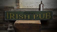 Irish Pub, Custom Bar Owner Name - Rustic Distressed Wood Sign ENS1001265