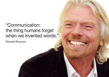 Richard Branson 9 Motivation Inspiration À Vie Affiche A3 A4 Or Stratifié