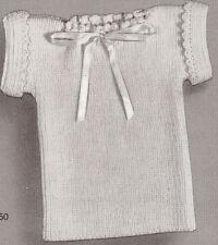 Vintage Knitting PATTERN to make Infant Baby Shirt Undershirt Tee BabyShirt