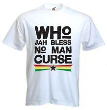 ? quién Jah bendiga Camiseta-Reggae Rastafarian Bob Marley Rasta-Elección del Color