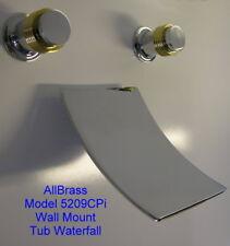 Wall Mount Sink Waterfall Faucet Chrome Brass Trim Faucets Free Ship Warranty Tu