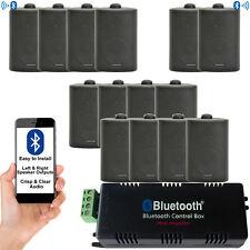 Outdoor Bluetooth Black Speaker Kit - Karaoke/Stereo Mini Amp Garden BBQ Parties