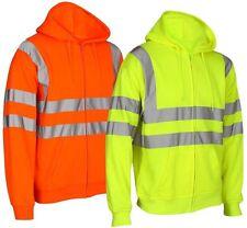 Hi Vis EN471 visibilité Sweatshirt à fermeture éclair capuche Plan de travail