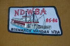 North Dakota WBA 85-86 BISMARCK MANDAN WBA - PRO Bowling Patch UNUSED