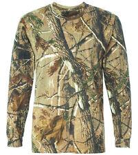 GENTS LONG SLEEVE HUNTERS GUN TOP mens wood tree camouflage t-shirt camo fishing