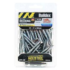 Buildex COUNTERSUNK RIBBED HEAD DECKING SCREWS 12-11x50mm*AUS Brand-50 Or 250Pcs