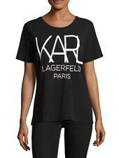 KARL LAGERFELD Big Karl Graphic T-Shirt Brand New Collection 2018