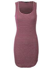 *CLEARANCE* KOGMO Womens Sleeveless Striped Comfy Knit Dress