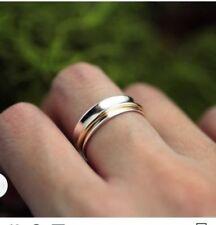 925 Sterling Silver Spinner Ring Wide Band Statement Ring Meditation Ring sr5085