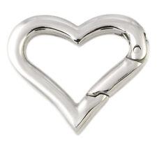 V13 Edelstahl Karabiner Ring Herz 19,9 mm Verschluss Armband Halskette Collier