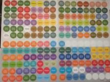DoTERRA Essential Oil Bottle/Vial Cap Stickers/Labels 192 Stickers!  Latest Oils
