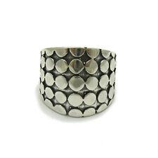 R000435 extravagante esterlina anillo de plata de ley 925 maciza