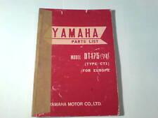 Ersatzteilliste / Spare Parts List Yamaha DT 175 / DT175 '74 Stand 12/1973