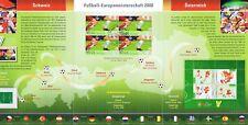 BRD 2008: Fußball-Europameisterschaft Erinnerungsblatt mit 4x Nr 2650 u.a.! 1704