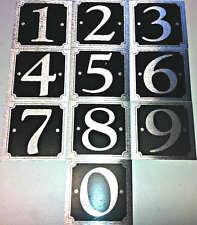 Autoadesivo effetto metallo i numeri di porta numero civico 0-9 disponibile adesivo segno