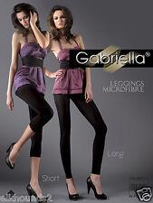 Gabriella European LEGGINGS 60 den Opaque 2 lengths long short: MIDCALF & ANKLE
