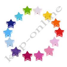 Motivperle Stern / Motivperlen / Holzperlen / Sterne / verschiedene Farben