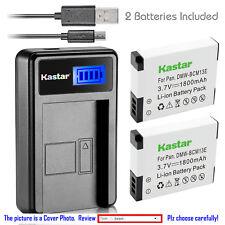 Kastar Battery LCD Charger for Panasonic DMW-BCM13 Lumix DMC-ZS45 Lumix DMC-ZS50