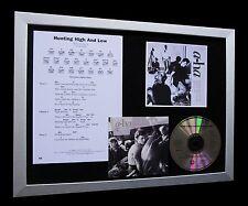 A-HA+AHA Hunting High And Low LTD CD MUSIC QUALITY FRAMED DISPLAY-FAST SHIPPING!