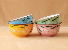 Müslischalen 2-4er Set Blumenmuster Japan Müsli Schale Schüssel Dessert Pudding