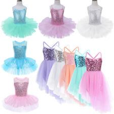 Girl Ballet Dress Kid Ballerina Leotard Sequin Glittery Party Dance wear Costume