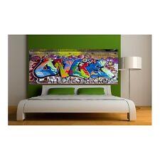 Aufkleber -kopf bett deko Grafiti Tag 9104