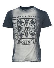 WCC West Coast Choppers Herren Men Shirt T-Shirt Gunslingers WCCTS132653ZW Grey/