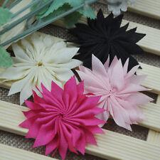 20pc Fancy ribbon flower Daisy Appliques DIY Sewing Wedding Deco A19