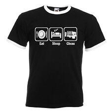 Chess Player Adults Mens Black Ringer Gift T Shirt