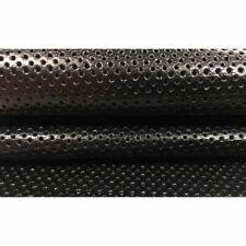 BLACK perforation hides Genuine Leather Sheep skin sheets  DISPLAY PANEL 2.5 oz