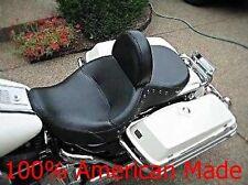 Harley Davidson Driver Backrest Road King w/two piece seat EZ ON/OFF Adj F/B