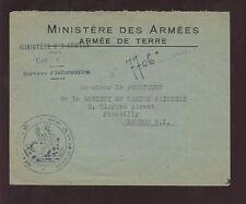 La FRANCE OCCUPATION MILITAIRE WW1 Couverture... peintres de marine