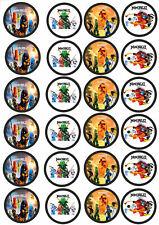 Fondant  Lego Ninjago C9 24 Muffin /& Cupcake Aufleger Oblate