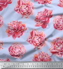 Soimoi Fabric Carnation Floral Fabric Prints By Yard - FL-852F