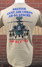 AH-64 APACHE Esercito Britannico T-Shirt Stampata