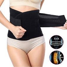 Black Lower Lumbar Back Brace Belt Back Waist Support Belt for Back Pain Women