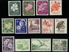 Norfolk Island   1960-62  Scott # 29-41 Mint Lightly Hinged Set