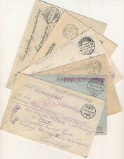 6 Kriegsgefangenensendungen nach Kopenhagen 1916-1917 top erhalten! (B00086)