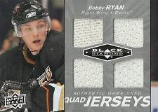 BOBBY RYAN 2010-11 BLACK DIAMOND QUAD GAME USED JERSEYS