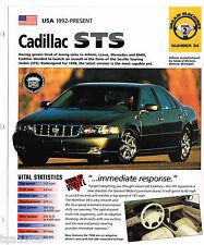 1997 / 1998 CADILLAC STS SPEC SHEET / Brochure / Pamphlet / Catalog / Photo's