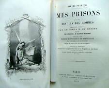 1872 MES PRISONS PELLICO JOLIES GRAVURES BOIS D'AUBIGNY