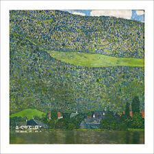 Klimt - Unterrach on Attersee lake fine art giclee print poster - various sizes