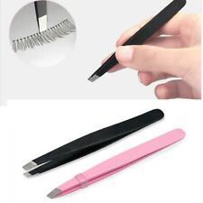 New Beauty Tip Slant Makeup Tools Eyebrow Tweezer Stainless Steel Hair Removal