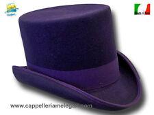 CAPPELLO A CILINDRO WESTERN TOP HAT viola e2eaff4a7114
