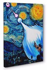 Dragon Ball Z Starry Night Portrait Framed Canvas Print Wall Art (Ready To Hang)