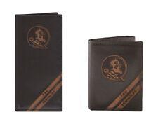 ZEP-PRO FSU SEMINOLES Genuine Leather Debossed Wallet Checkbook or Trifold