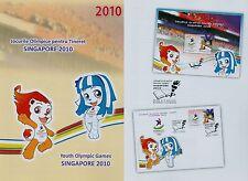Rumanía 2010 olímpico juventud juegos, singapur, medalla mié. bloque 474,6461 FDC